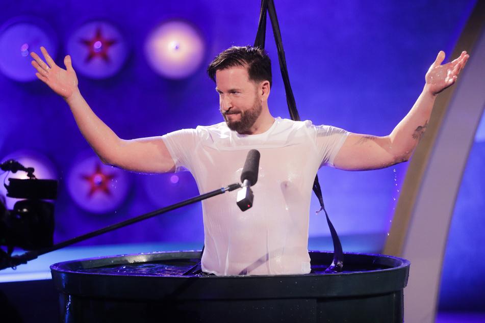 """Michael Wendler (48) bei der Live-Show """"Pocher vs. Wendler""""."""