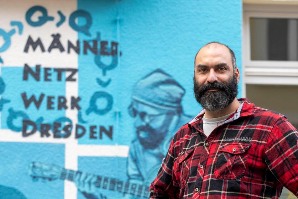 Mirko Luckau (41) vom Männernetzwerk Dresden.