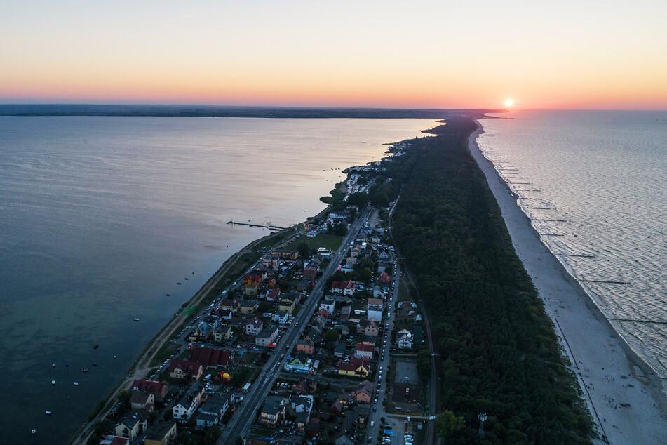 Geformt wie Miami Beach, aber in Europa: die Halbinsel Hel in Polen.