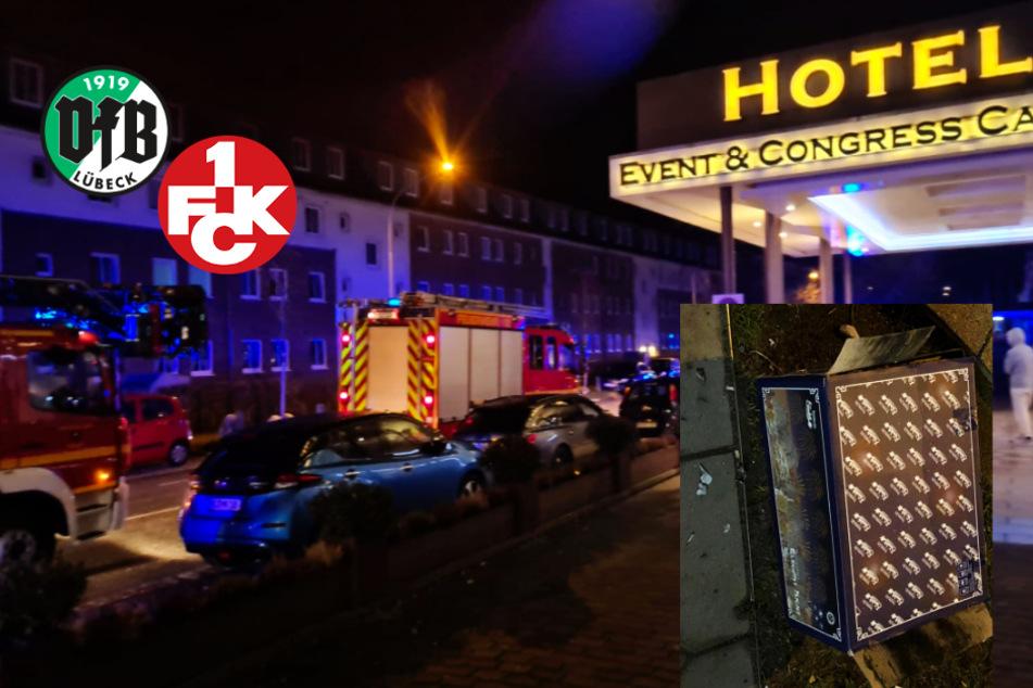 Irre Szenen in der Nacht vor dem Schicksalsspiel in der 3. Liga zwischen Lübeck und dem FCK