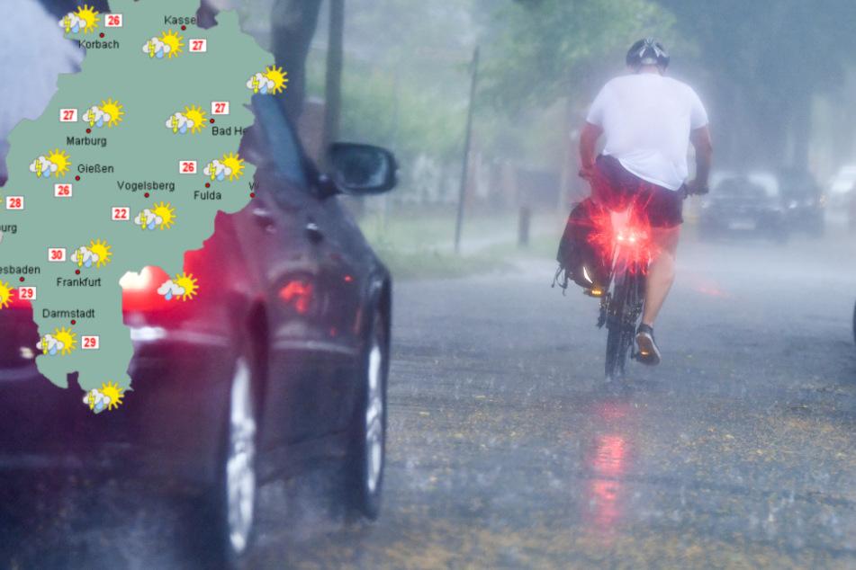 Starker Regen und sinkende Temperaturen in Hessen