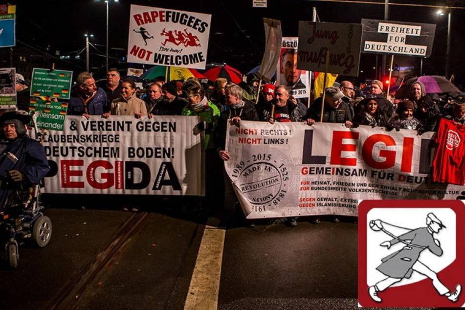 Zu gefährlich: Erste Zeitung zieht Reporter von Legida ab
