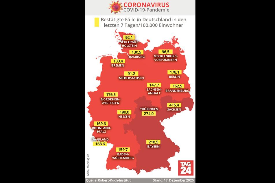 Die aktuellen Corona-Fallzahlen in Deutschland