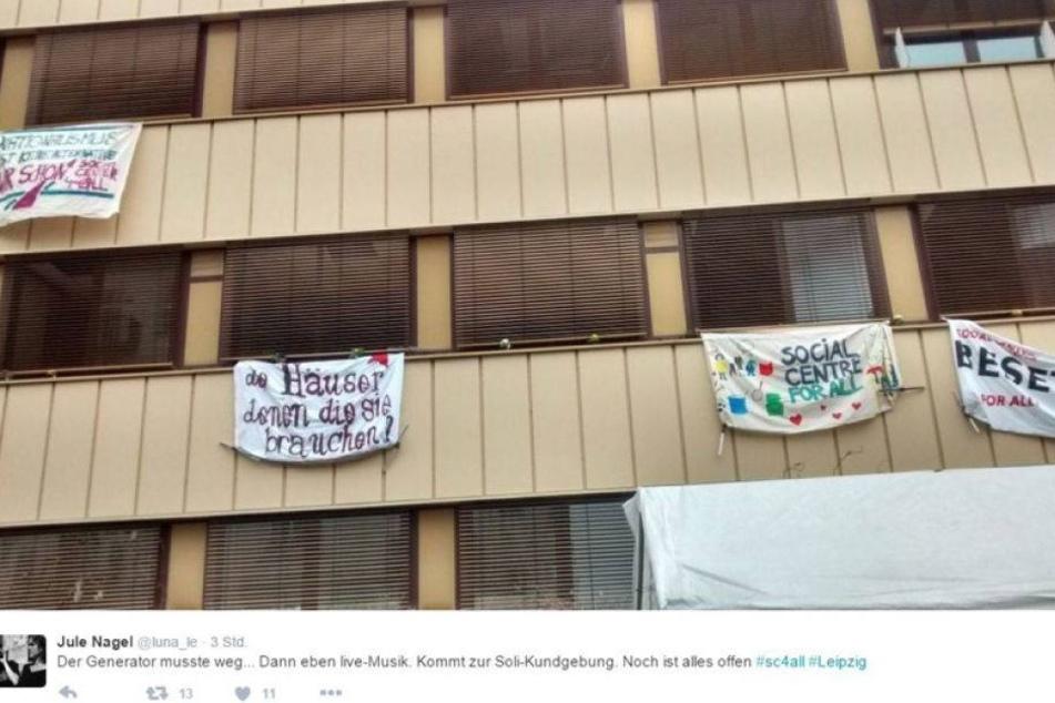 Linke besetzen Haus in Leipzig und stellen Forderung