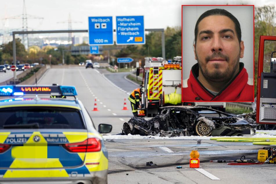 Aktenzeichen XY: Frau verbrennt in Auto, weil Lamborghini auf A66 Rennen fährt: So lief der tödliche Unfall ab