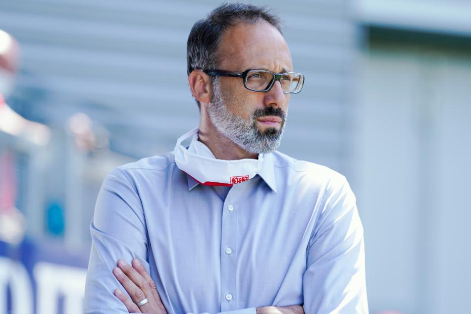Pellegrino Matarazzo (42) soll auch im Falle eines verpassten Aufstiegs Trainer des VfB Stuttgart bleiben.