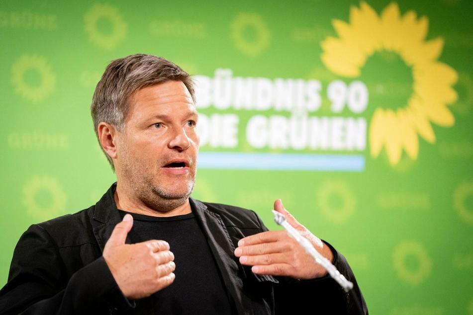 Robert Habeck, Bundesvorsitzender von Bündnis 90/Die Grünen. Derzeit fallen die Grünen leicht in den Umfragen.