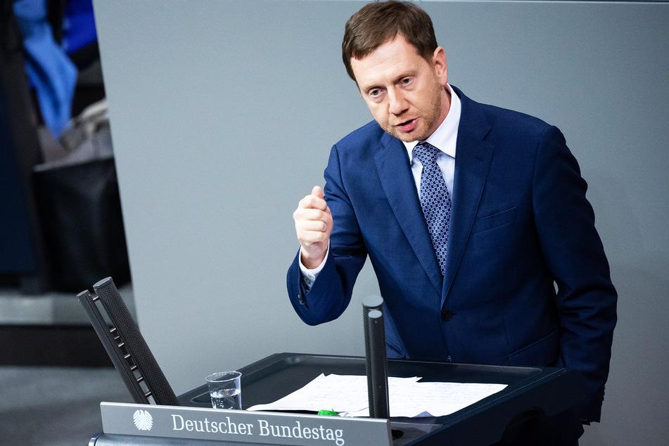 Michael Kretschmer (45, CDU), Ministerpräsident von Sachsen, spricht im Bundestag.
