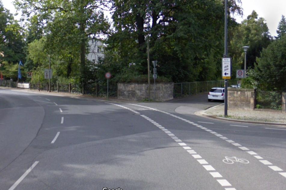 Beim Abbiegen in die Prellerstraße wurde die Fahrradfahrerin verletzt.