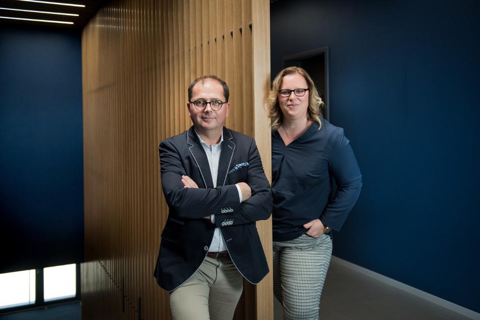 Sylvia Börner (42) führt zusammen mit Mirko Keubert die Firma Eberhard Rink Sanitär-Heizung-Elektro GmbH & Co. KG.