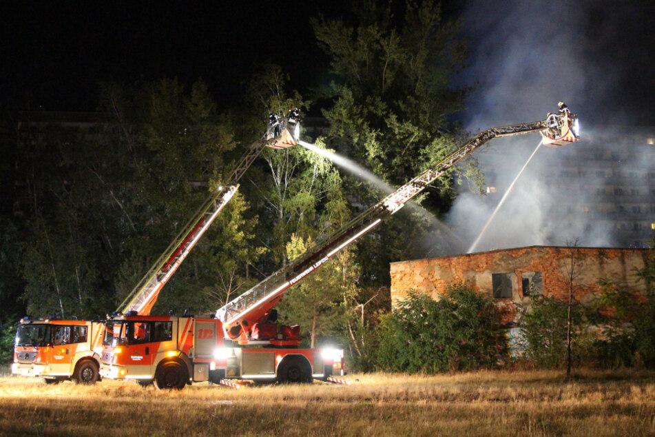 Zur Brandbekämpfung waren zwei Drehleitern notwendig.