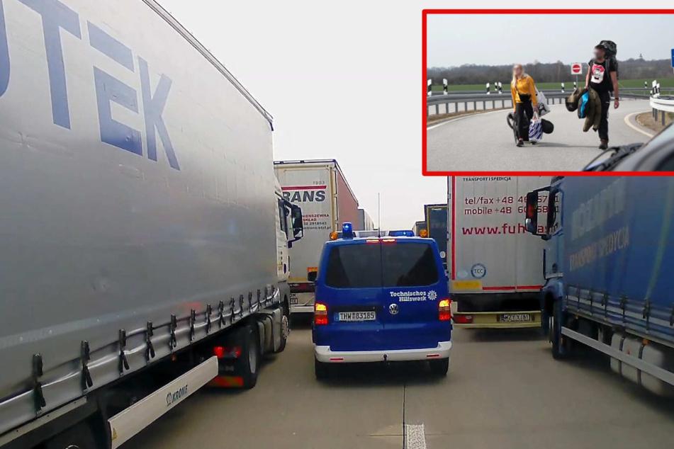 Chaos an Görlitzer Grenze nach Polen: 40 Kilometer Stau auf der A4!