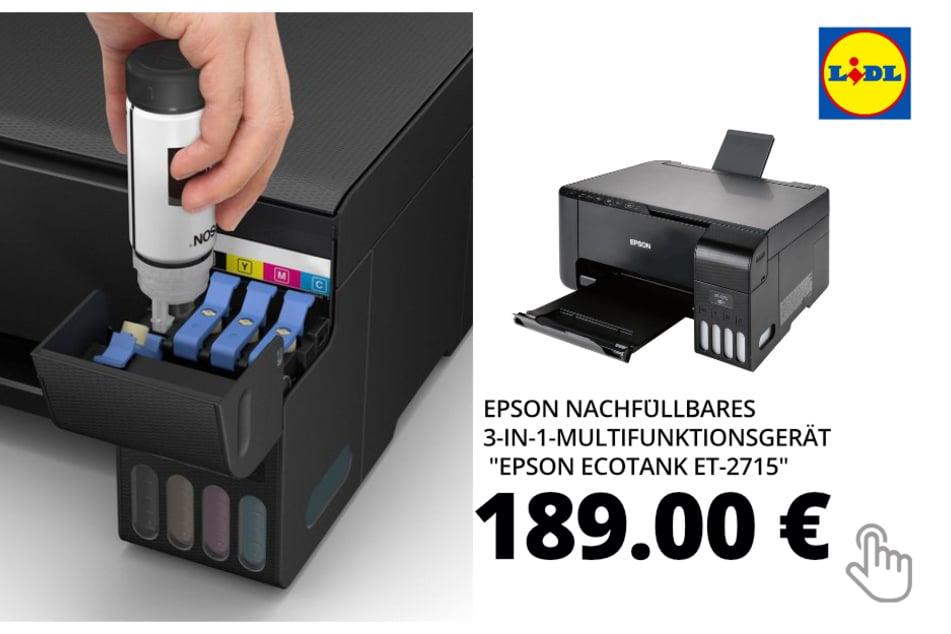 """EPSON Nachfüllbares 3-in-1-Multifunktionsgerät """"Epson EcoTank ET-2715"""""""