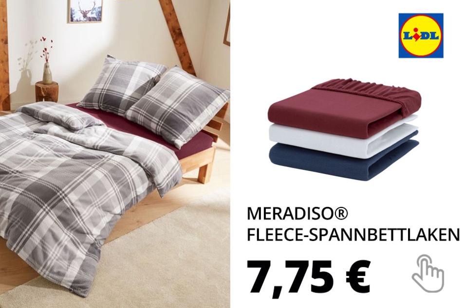 MERADISO® Fleece-Spannbettlaken, 140-160 x 200 cm