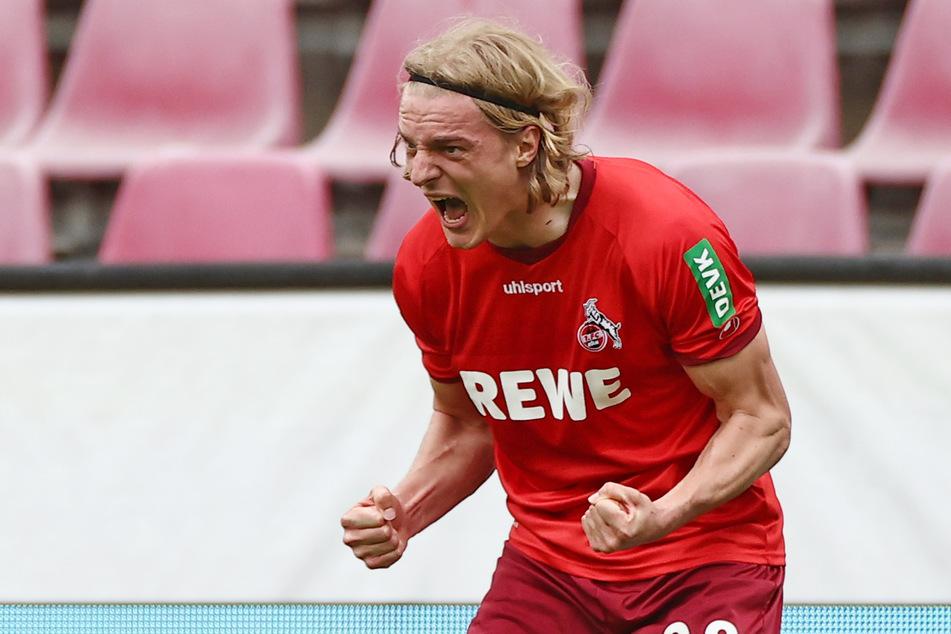 Sebastiaan Bornauw (22) konnte den 1. FC Köln mit seinem Tor gegen den FC Schalke 04 (1:0) vor dem direkten Abstieg bewahren.
