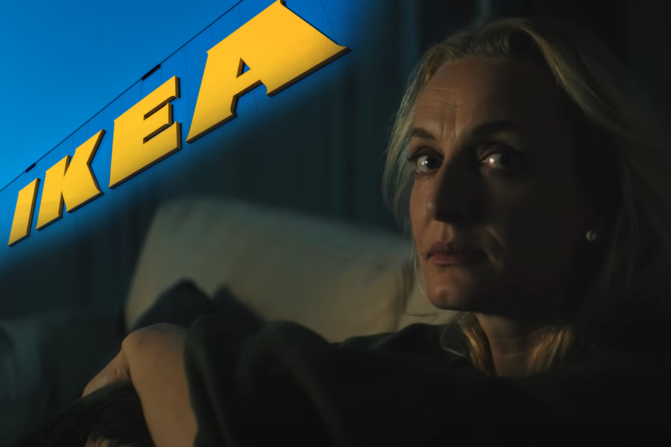 The IKEA ad mimics the style of a supernatural horror movie.