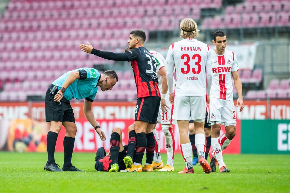 Kölns Sebastiaan Bornauw verursachte gegen Frankfurt einen Foulelfmeter.