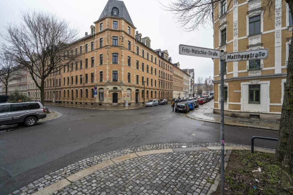 In Höhe der Fritz-Matschke-Straße geschah der Raubüberfall.