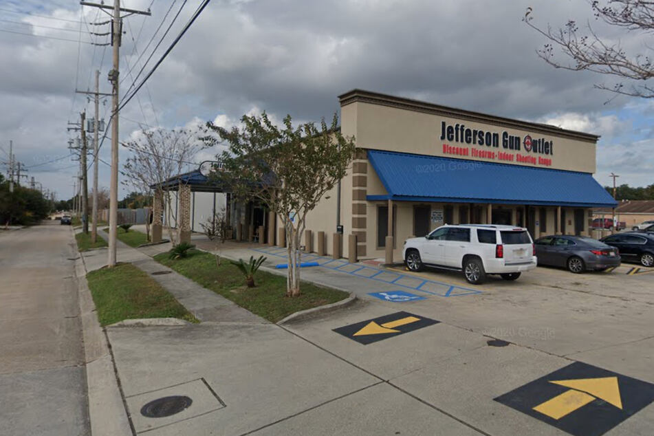 The shooting took place at Jefferson Gun Outlet in Metairie.