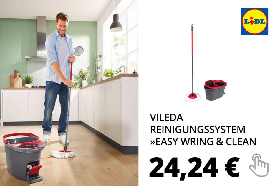Vileda Reinigungssystem »Easy Wring & Clean«, mit Teleskopstiel, Wischmop, Power-Schleuder