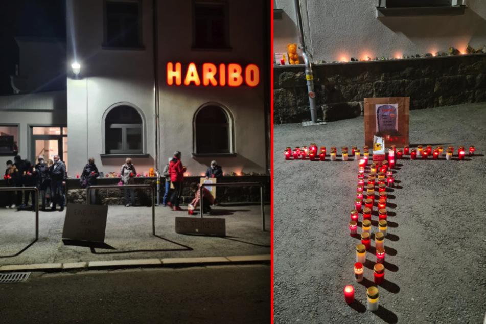 """Trauer und Wut: Hier wird das Haribo-Werk in Wilkau-Haßlau """"beerdigt"""""""