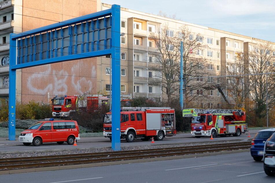 Chemnitz: Feuerwehreinsatz in Chemnitz: Brand in der Zwickauer Straße