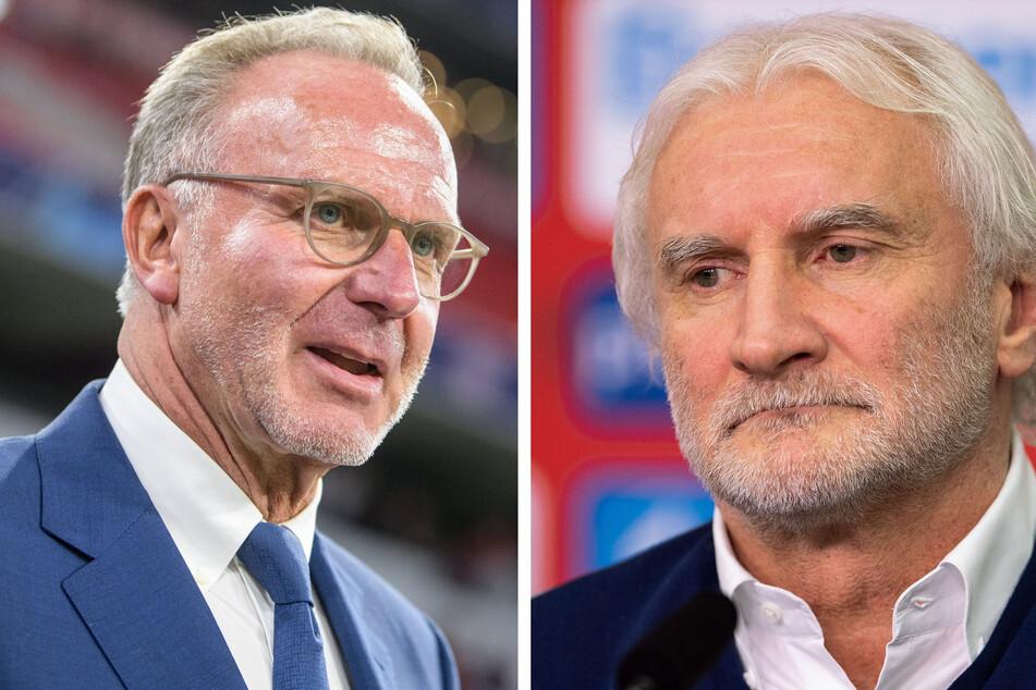 Für Matthäus das richtige DFB-Duo: Karl-Heinz Rummenigge (65, l.) und Rudi Völler (61).