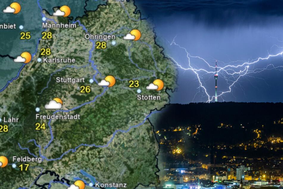 Kräftige Gewitter in Baden-Württemberg erwartet