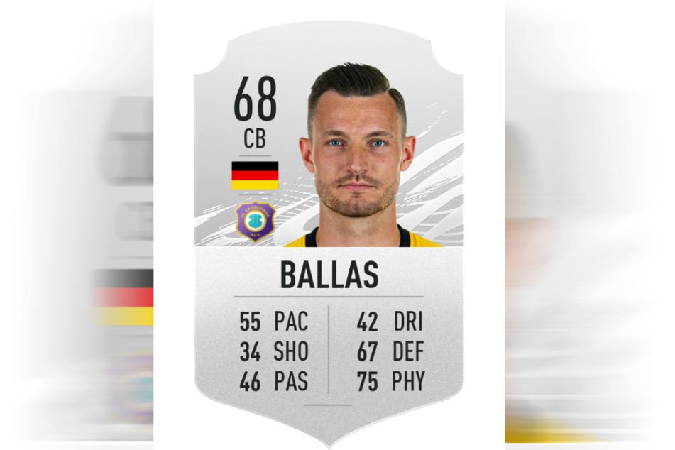 Florian Ballas hat bei FIFA eine Gesamtwertung von 68.