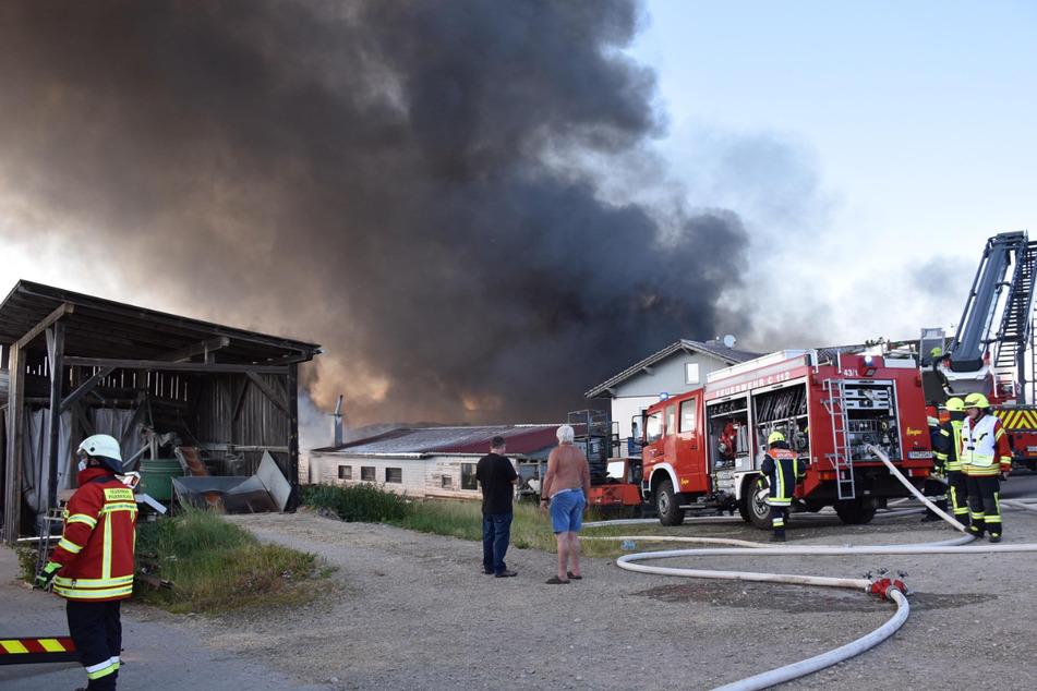 Bei dem Großbrand in einem holzverarbeitenden Betrieb in Niederbayern ist ein Millionenschaden entstanden.