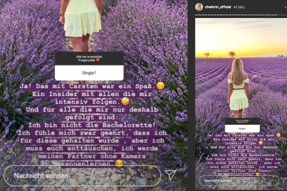 Auf Instagram verkündete sie nun, definitiv nicht die neue Bachelorette zu sein.