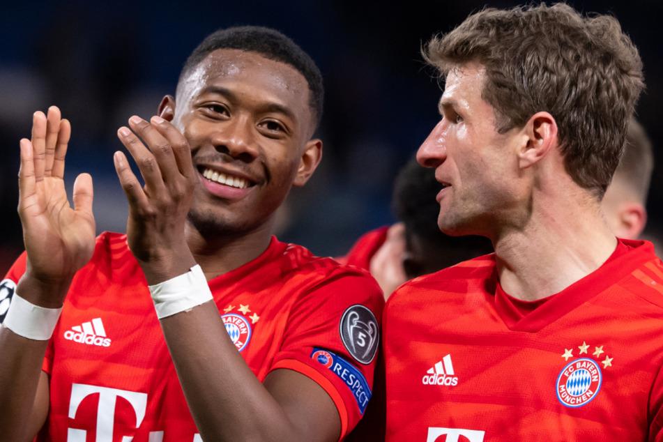 David Alaba (27, l.), Thomas Müller (30) und Co.: Die Profis vom FC Bayern München akzeptieren auch weiterhin Gehaltseinbußen.