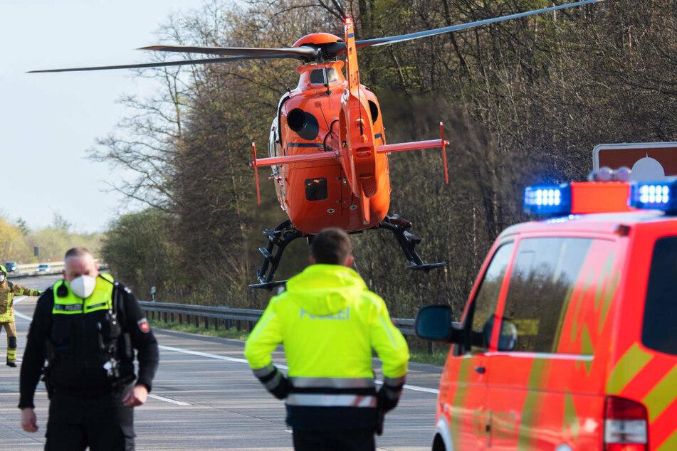 Am Mittwochabend ist ein 40-jähriger Hyundai-Fahrer bei einem Verkehrsunfall auf der A24 schwer verletzt worden, nachdem er in die Leitplanke geschleudert ist. (Symbolfoto)