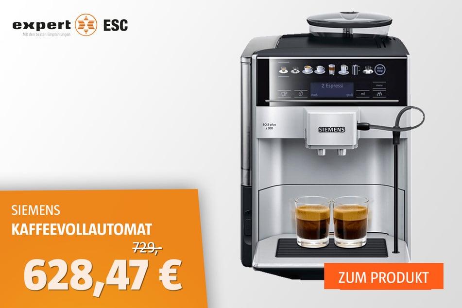Siemens EQ.6 plus s300 TE653501DE Kaffeevollautomat für 628,47 statt 729 Euro