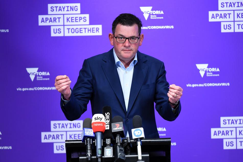 Daniel Andrews, der Premier des australischen Bundesstaates Victoria, spricht bei einer Pressekonferenz in Melbourne. (Archivbild)