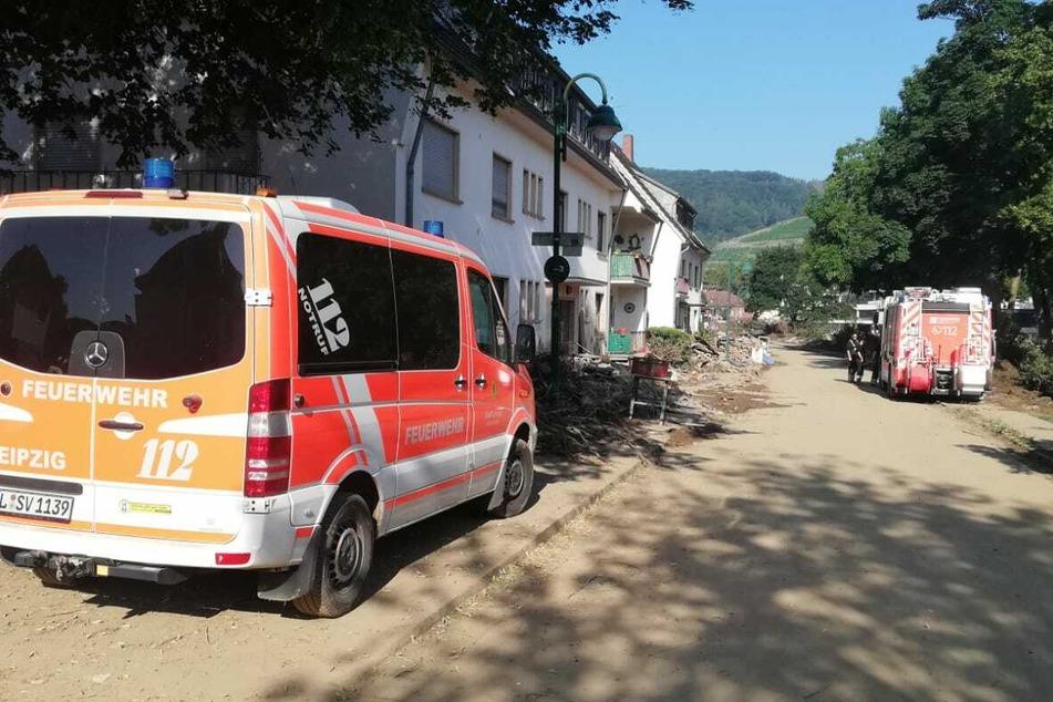 Die Leipziger Feuerwehr leitet ab sofort einen Einsatzabschnitt im Katastrophengebiet Ahrweiler.