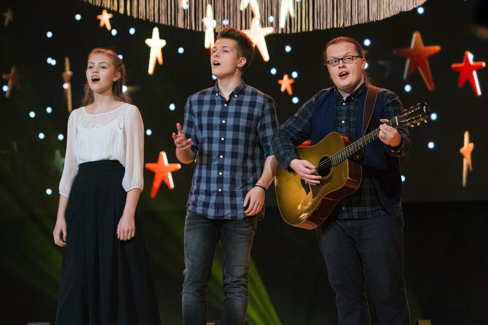 """""""Weihnachten bei uns"""" im Jahr 2018 in der Zwickauer Stadthalle: Angelo Kelly & Family."""