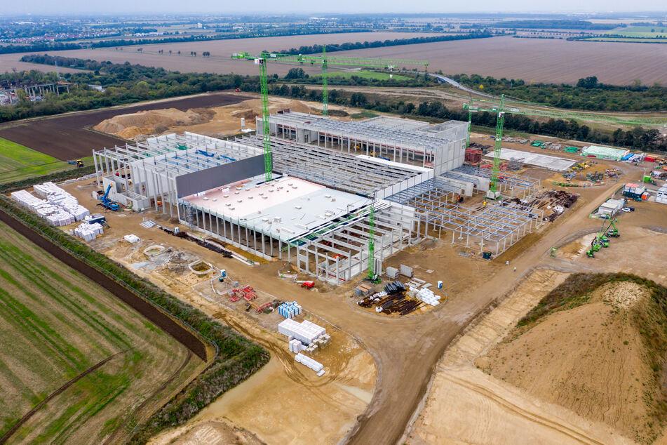 Am Mittwoch gab es die feierliche Grundsteinlegung auf der bereits deutlich fortgeschrittenen Beiersdorf-Baustelle in Leipzig-Seehausen.