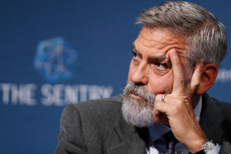 George Clooney bei einer Pressekonferenz in London im September 2019.
