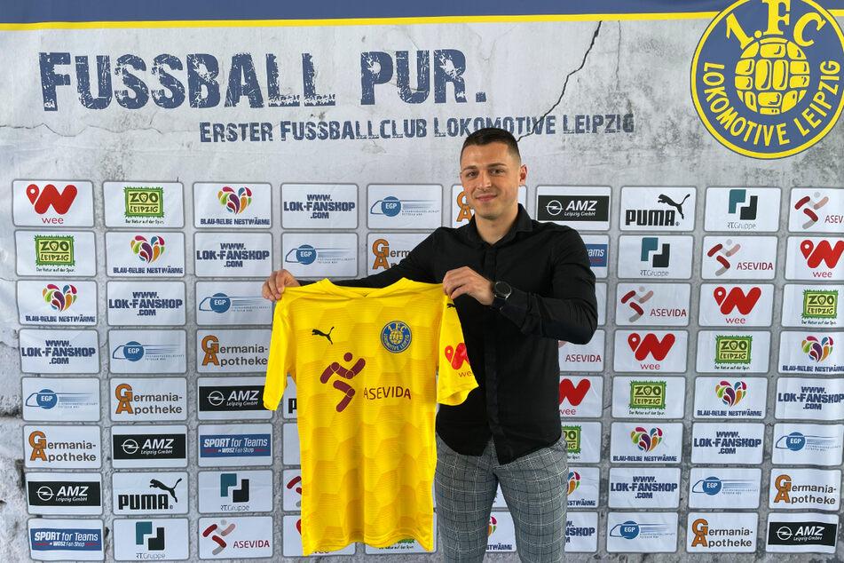 Bogdan Rangelov (23) hat bei Lok Leipzig einen Vertrag 2023 unterschrieben.