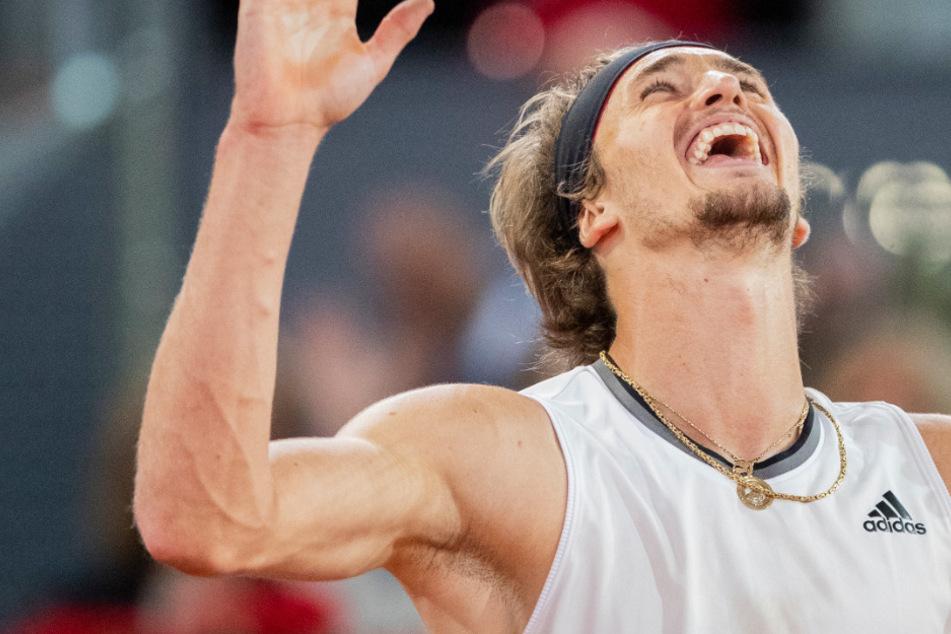 Alexander Zverev: Jaaaa! Zverev mit Glanzleistung in Madrid, dennoch fällt die Feier für den großen Sandtriumph klein aus