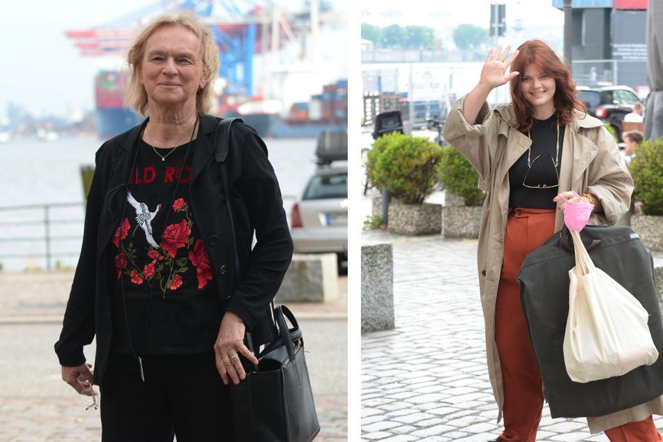 """Schriftstellerin und Journalistin Elke Heidenreich (78, l.) und die 27-jährige Autorin Sophie Passmann kommen am """"Zum Schellfischposten"""" an."""