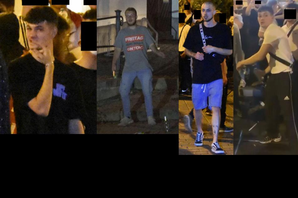 Fahndungsfotos der Polizei. (Bildmontage)