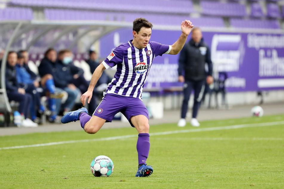 """Clemens Fandrich spielte beim Auer 3:0-Sieg gegen Darmstadt als """"Achter"""". Für ihn keine ungewohnte Rolle."""