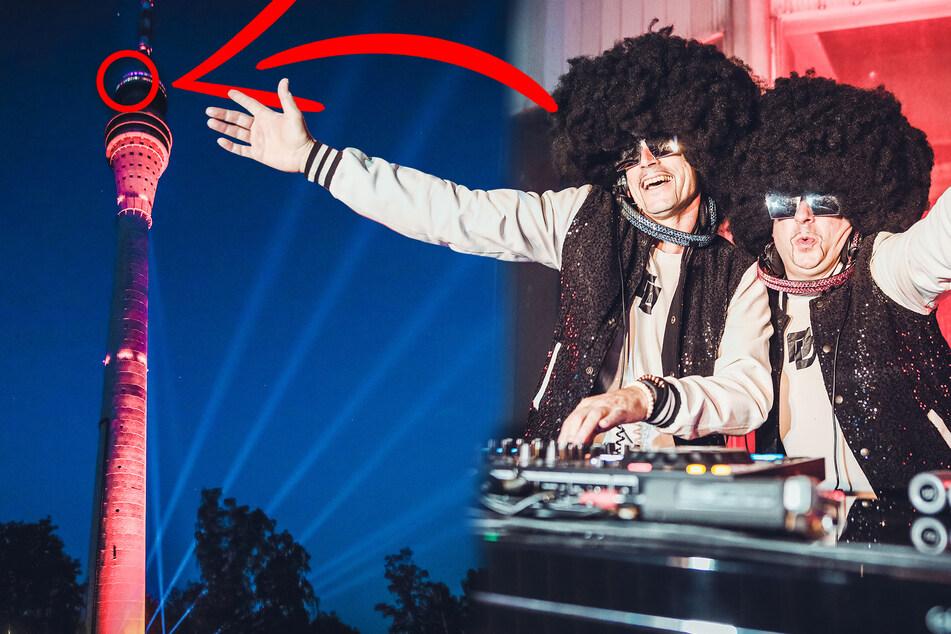 """Dresdner DJ-Duo """"Disco Dice"""" rockt den Fernsehturm: So cool wird das Video!"""