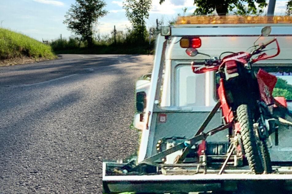 Motorradfahrer flüchtet alkoholisiert vor Polizeikontrolle, dann überschlägt er sich!