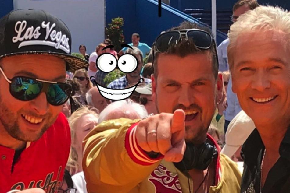 Olaf Berger (56) macht jetzt gemeinsame Sache mit den Erzgebirgs-DJs Sebastian Seidel (37, l.) und Rico Einenkel (41, Mitte).