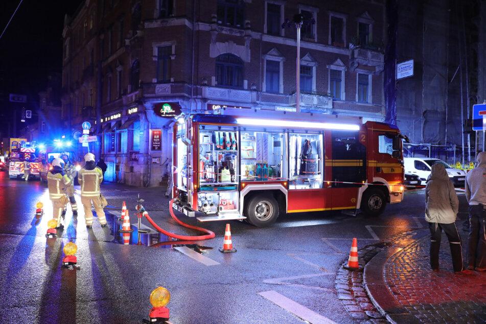 Dresden: Gas-Alarm! Feuerwehr-Einsatz in Dresden-Pieschen