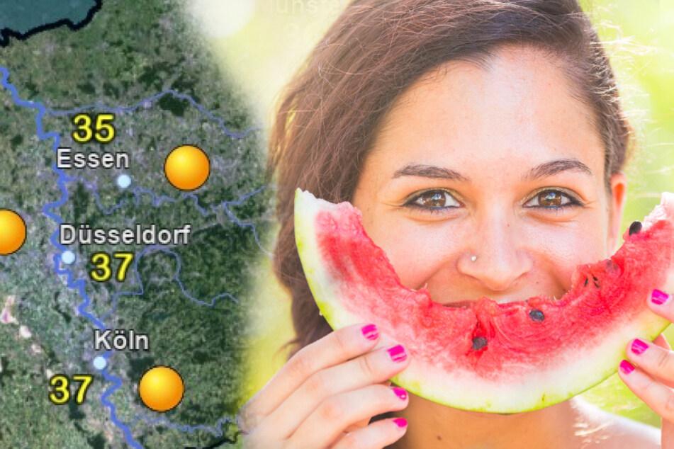Kühlt die Melonen, das Wochenende wird mega-heiß in Köln und ganz NRW!