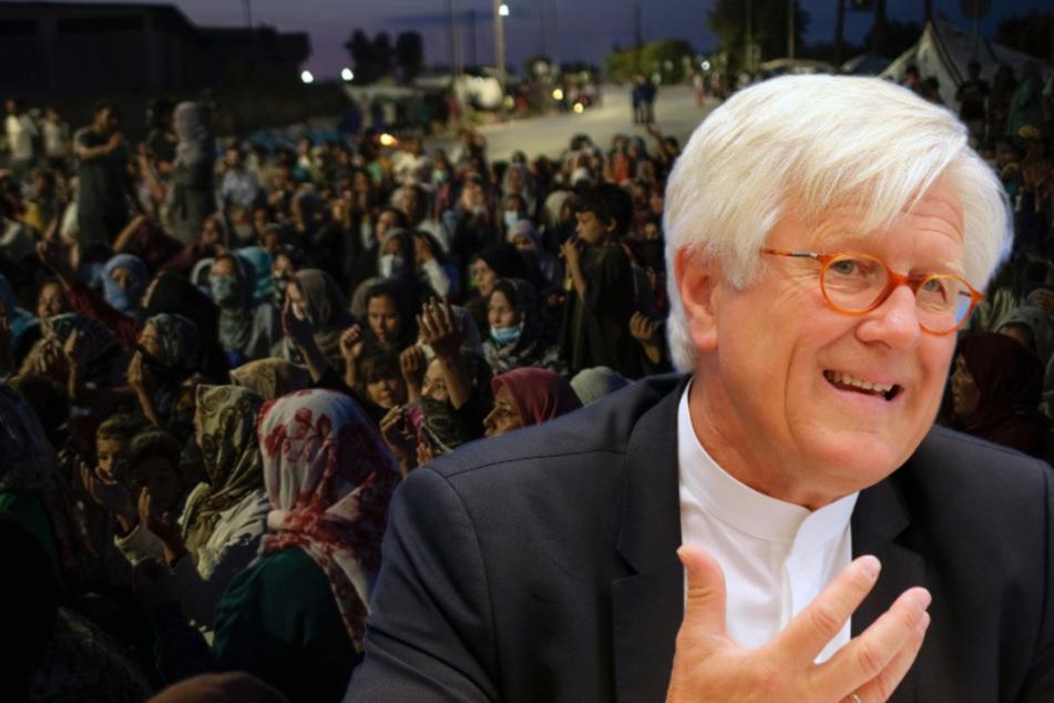 Heinrich Bedford-Strohm (60), Ratsvorsitzender der Evangelischen Kirche in Deutschland, kritisierte die Aufnahme von nur 400 Minderjährigen aus Moria. (Bildmontage)
